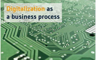 Digitalization as a business process.
