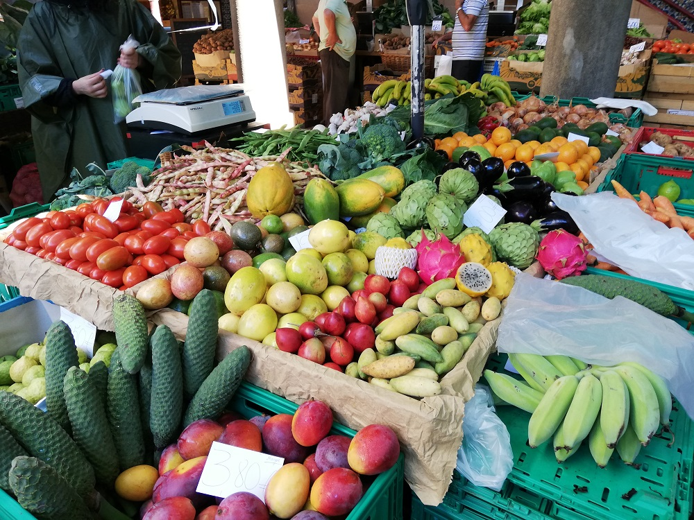 Fresh fruits in Madeira