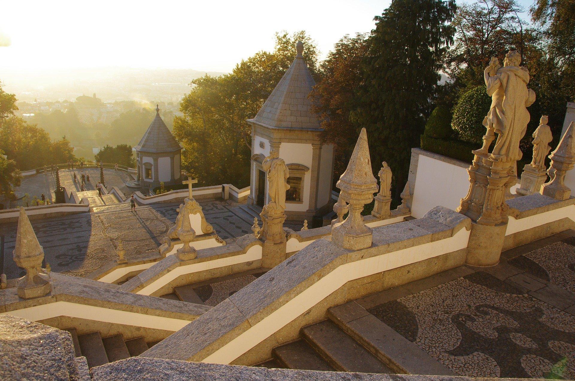 Braga sunset monuments